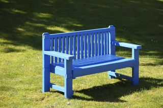 Admirable The Ponds Blue Bench Struan Farm Gmtry Best Dining Table And Chair Ideas Images Gmtryco